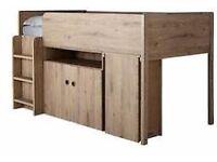 NEW/BOXED Kidspace FINSBURY MID SLEEPER In Oak