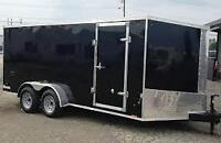 New Pace Upgraded 7x16 Enclosed Trailer Screwless Exterior LED