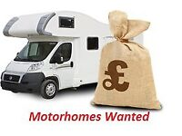 motorhomes and campers required same day collection! old or new! any condition! £300 to £30,000