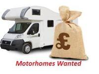 we buy any motorhomes please call me on 07981340395