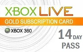 14 Day (2 weeks) Xbox Live Gold Trial Pass Code, FREE Super Fast Delivery