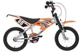 """16"""" bike and helmet like new need gone offers"""