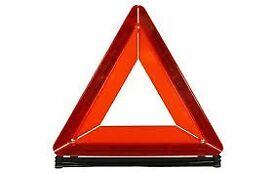 Folding warning triangle