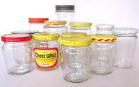 Empty cleaned small food jars