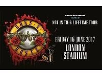 GUNS N ROSES LONDON OLYMPIC PARK STANDING TICKET X1 JUNE 16TH 2017