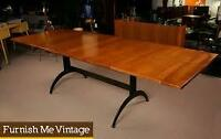 Ethan Allen Cherry Wood Dining Table & 8 chairs