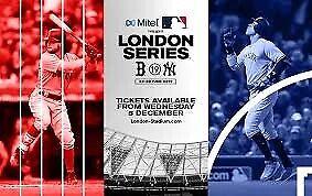fb38caed 2x Boston Red Sox vs New York Yankees Tickets - London 30 June 2019 ...