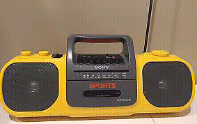 COLLECTORS SONY SPORTS  WATERPROOF. BOOMBOX FULLY FUNCTIONAL