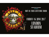 2 x Golden Circle Guns n Roses Tickets 16th June 2017