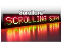 LED 4 COLOUR SCROLLING SIGN