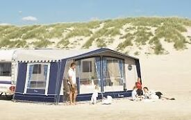 Commodore Alpha Awning 3m deep 950cm. Royal Blue