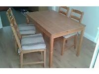ikea jokkmokk table w/4 chairs