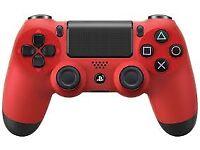 PlayStation 4 DualShockController - Red Wireless