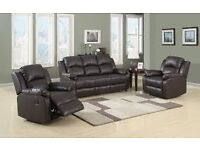 Brand New Leather Suites with reclining chairs