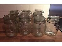 10x Ikea Korken storage jars 1 litre - excellent condition