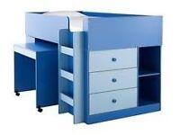 Blue Midsleeper Bed