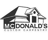 GET DECKED OUT WITH MCDONALDS CUSTOM CARPENTRY! 613 229 3820!