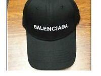 BALENCIAGA BLACK SNAPBACK HAT / CAP
