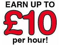 Brochure distributor wanted ��� Earn up to ��10 per hour ��� immediate start!