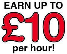 Brochure distributor wanted – Earn up to £10 per hour – immediate start!