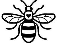 Manchester Bee and other decals and stickers
