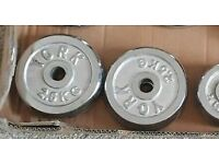 4 x 2.5kg York chrome weight plates
