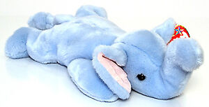 Peanut the Light Blue Elephant Ty Beanie Buddy stuffed animal