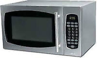 Salton Stainless Steel Microwave Oven 0.9 cu. ft. MW-2027