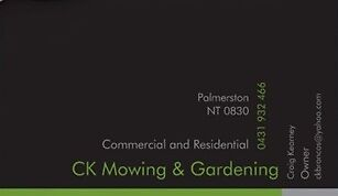 CK Mowing & Gardening Palmerston Area Preview