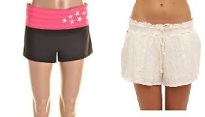SHORTS FOR SALE - ROXY BEACH COVER-UPS, JENNY YOGA - SZ L - NEW!