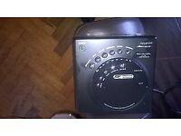 Radio, CD player and clock.