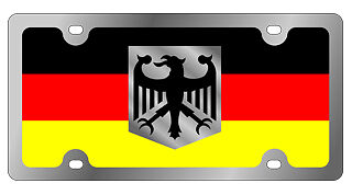 Germany German Country Flag Novelty License Auto Plate Tag