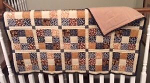 Crib Quilt, Black & Brown