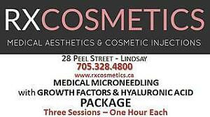 RXCosmetics Medical Microneedling with Growth Factors & Hyaluronic Acid - 3 Sesssions