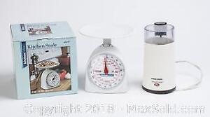 Black and Decker Smart Grind and Kitchen Value Kitchen Scale.