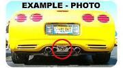 C5 Corvette Exhaust Plate