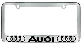 Plastic Color License Plate - Audi Logo plastic Chrome color License Plate Frame
