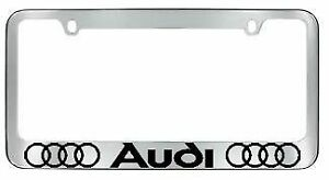 Audi License Plate Frame With Caps