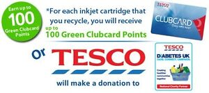 100 Empty Ink Cartridges could be £200 of Tesco CLUBCARD Points voucher recycle