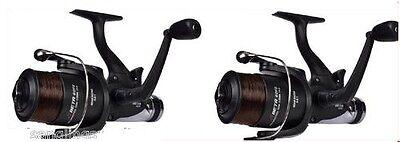 2 x Shakespeare  Beta Freespool Carp Fishing Reels Bait, Switch at rear