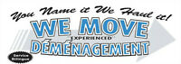 WE MOVE DEMENAGEMENT (Bilingual/Bilingue)