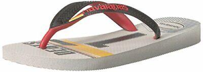 Havaianas Unisex Teams III - Germany Sandal,White/Black,45/46 BR (13 M US Men's)