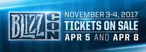 Blizzcon 2017 Tickets With Goody Bag + all Bonus's