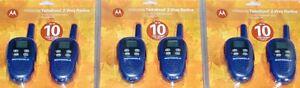 6-NEW-Motorola-FV300-FRS-GMRS-2-WAY-Radio-Walkie-Talkie-AAA-22CH-10-mile