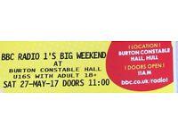 SWAP Saturday Radio 1 big weekend tickets for Sunday