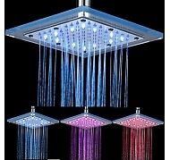LED SHOWER 8 INCH METAL / GLASS / douche 8 pouces LED