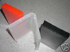 100 STANDARD VHS CASES WITH FULL SLEEVE - BLACK - PSV10
