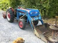 Snow-Thrower Big Tractor with front hydraulic bucket For Sale