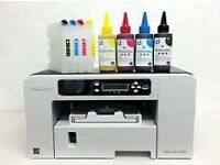 Ricoh Aficio 2100N Printer refiilable Cartridges Bundle Sublimation Ink Paper