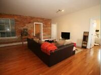 FAB HUGE 3 BDRM LOFT, EXOTIC FLOORS EXPOSED BRICK, D/W, LAUNDRY